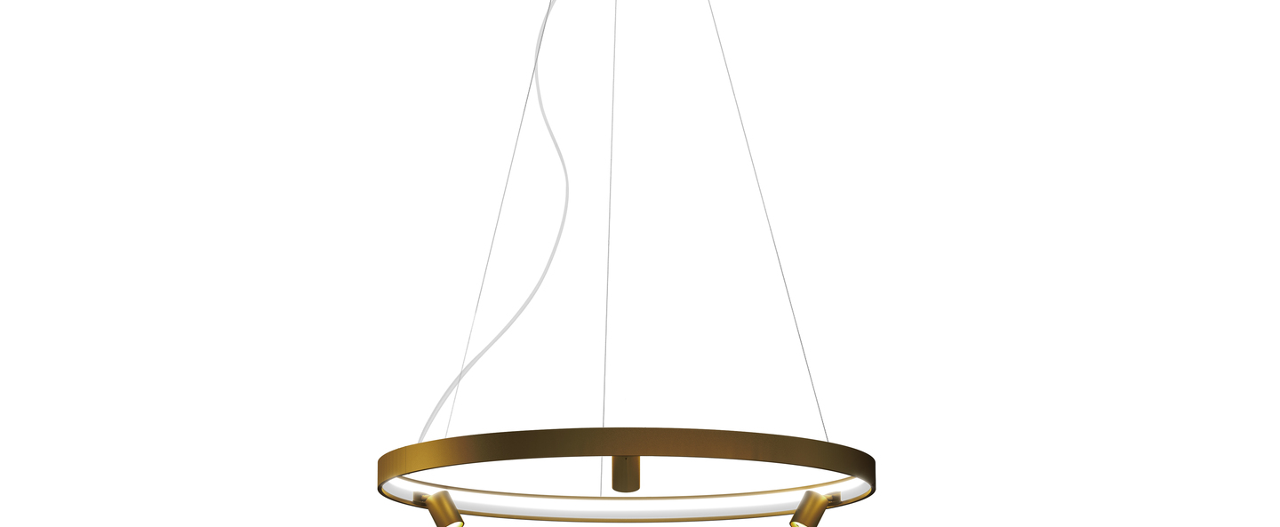 Lustre arena 3 bronze led 2700k 6732lm o100cm h5 3cm panzeri normal