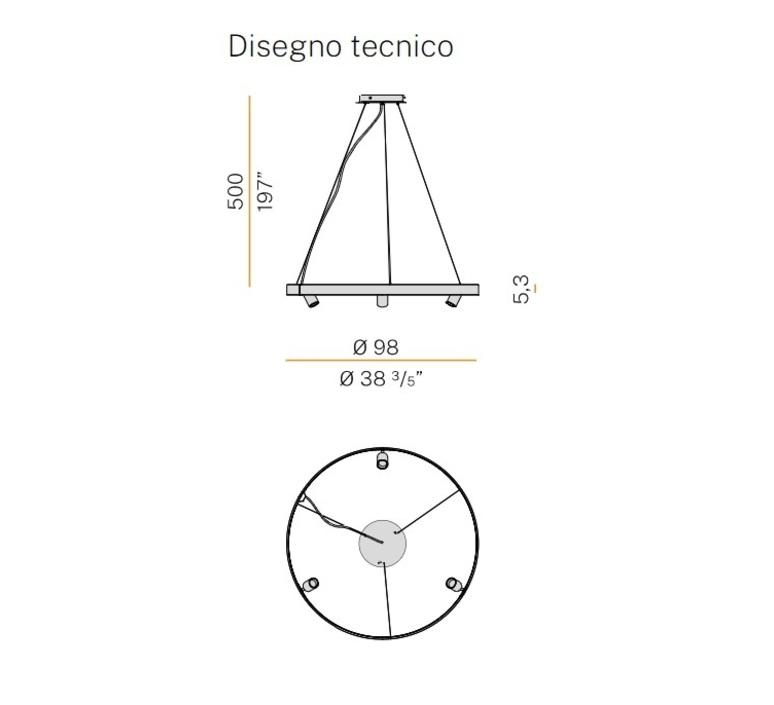 Arena 3 studio tecnico panzeri lustre chandelier  panzeri l07417 100 0518  design signed nedgis 93068 product