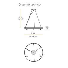 Arena 3 studio tecnico panzeri lustre chandelier  panzeri l07417 100 0518  design signed nedgis 93068 thumb
