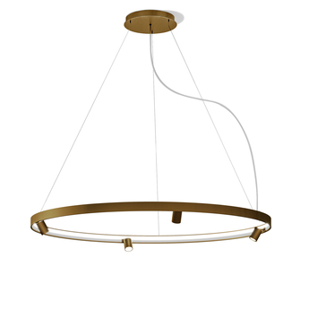Lustre arena 4 bronze led 2700k 9675lm o150cm h5 3cm panzeri normal