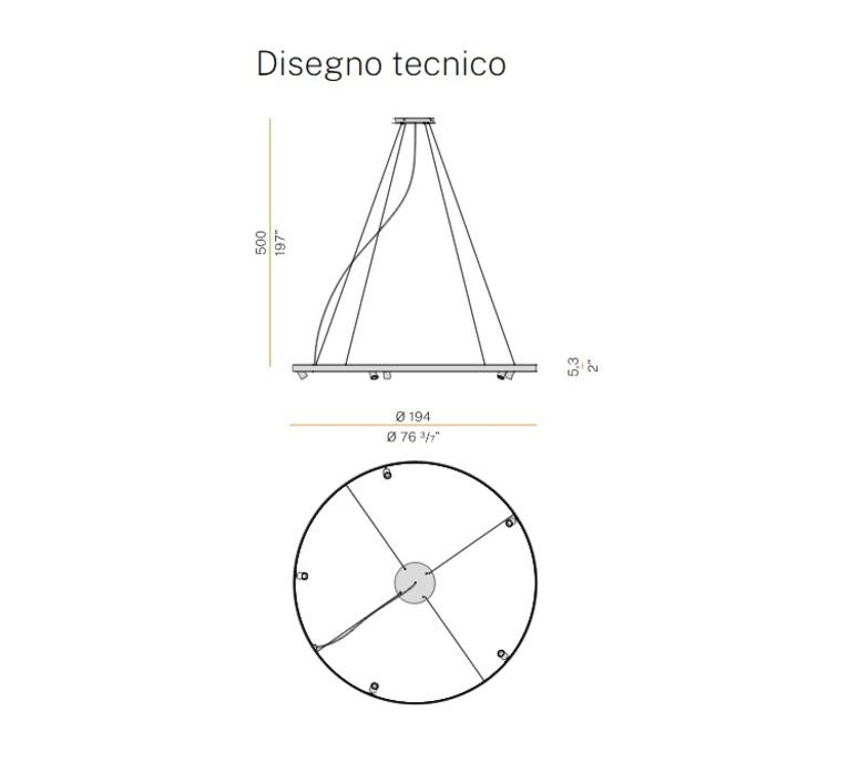Arena 5 studio tecnico panzeri lustre chandelier  panzeri l07401 200 0518  design signed nedgis 93081 product