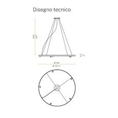 Arena 5 studio tecnico panzeri lustre chandelier  panzeri l07401 200 0518  design signed nedgis 93081 thumb