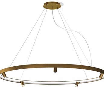 Lustre arena 5 bronze led 2700k 12618lm o200cm h5 3cm panzeri normal
