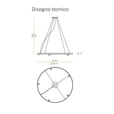 Arena 5 studio tecnico panzeri lustre chandelier  panzeri l07402 200 0518  design signed nedgis 93077 thumb