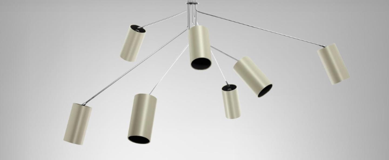 Lustre array cotton nickel l170cm h85cm cto lighting normal