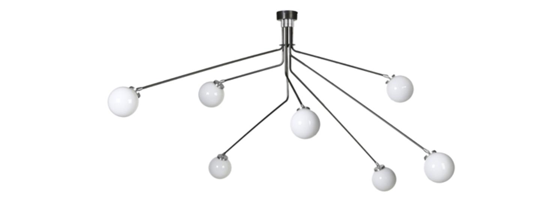 Lustre array opal nickel l160cm h85cm cto lighting normal