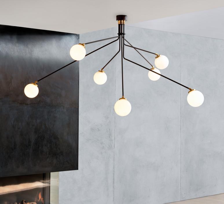 Array opal  lustre chandelier  cto lighting cto 01 035 0101  design signed 53871 product