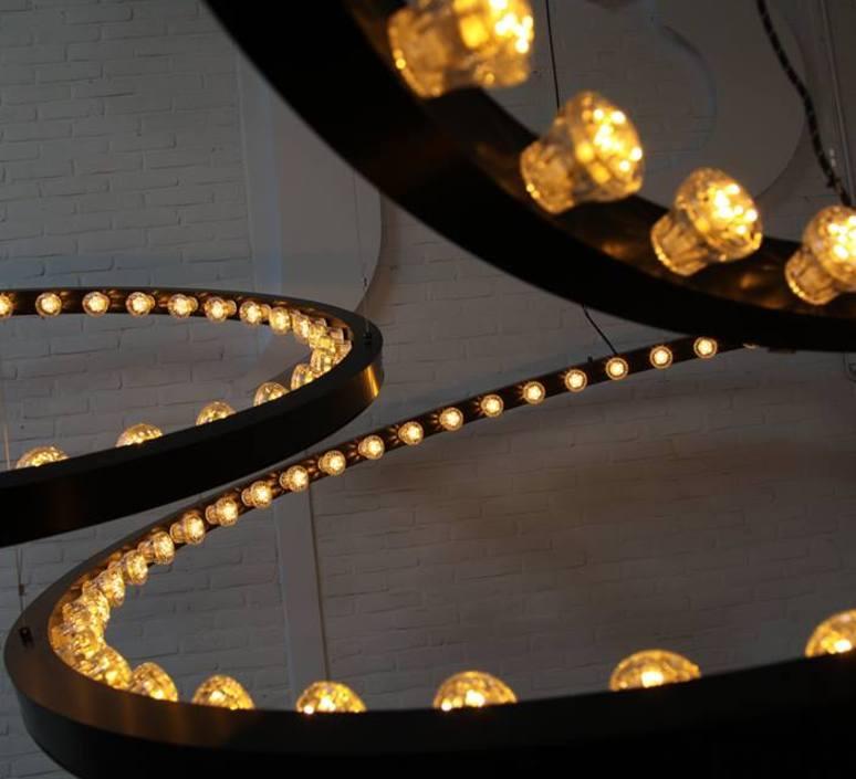 Aura medium jasper van grootel jspr aura medium black luminaire lighting design signed 11999 product