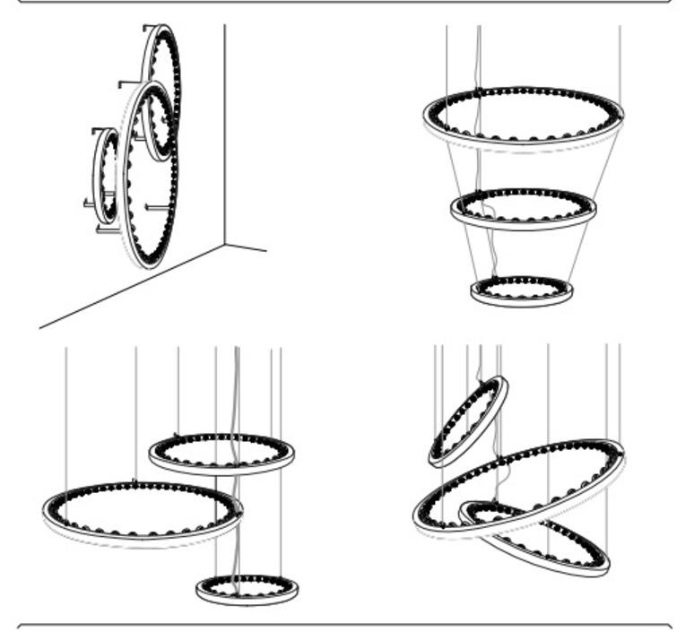 Aura medium jasper van grootel jspr aura medium black luminaire lighting design signed 12003 product