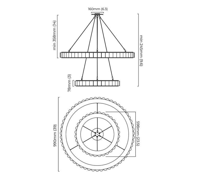 Avalon halo chris et clare turner lustre chandelier  cto lighting cto 01 045 0202   design signed nedgis 116446 product
