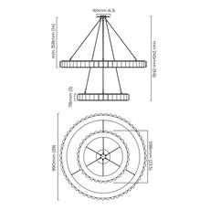 Avalon halo chris et clare turner lustre chandelier  cto lighting cto 01 045 0202   design signed nedgis 116446 thumb