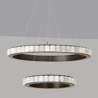 Lustre avalon halo bronze led 2700k o101cm h7 8cm cto lighting normal