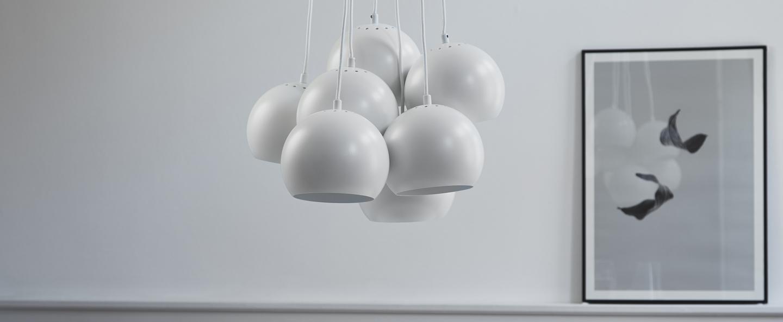 Lustre ball multi blanc mat o18cm h120cm frandsen normal