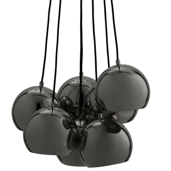 Lustre ball multi chrome noir o18cm h120cm frandsen normal