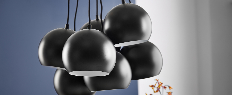 Lustre ball multi noir mat o18cm h120cm frandsen normal