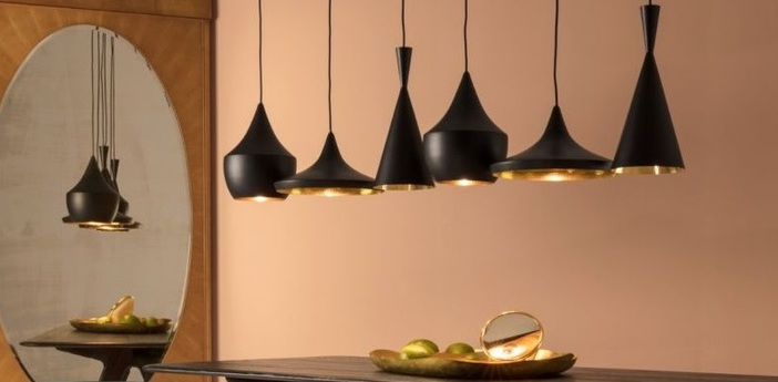 Lustre beat range linear noir o156cm h99cm tom dixon normal
