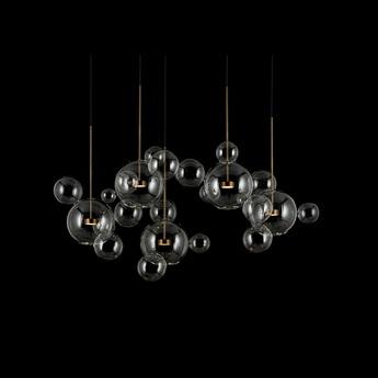 Lustre bolle chandelier transparent laiton brunni led l152cm l57cm h111 a 400cm giopato coombes normal