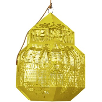 Lustre caged beauty jaune h80cm jspr normal