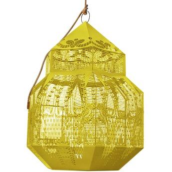 Lustre caged beauty jaune h80cm jspr normal