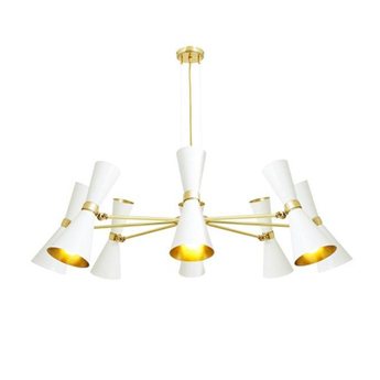 Lustre cairo 8 bras blanc o115cm h36cm mullan lighting normal