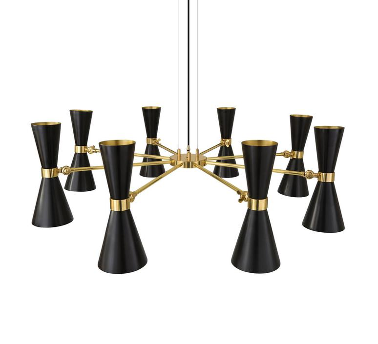 Cairo 8 bras studio mullan lighting lustre chandelier  mullan cairo 8 bras mlf187pcmbk  design signed nedgis 67518 product
