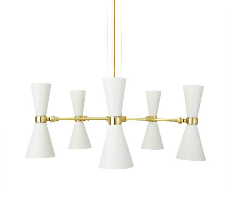Cairo cinq bras studio mullan lighting lustre chandelier  mullan cairo cinq bras blanc mat mlf205pcwte  design signed nedgis 67501 product