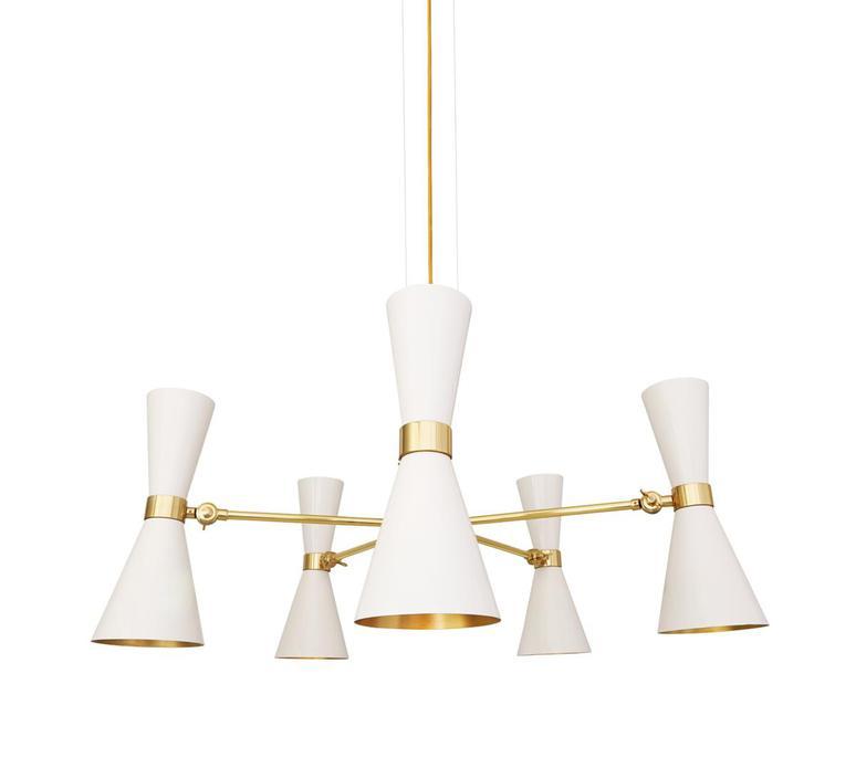 Cairo cinq bras studio mullan lighting lustre chandelier  mullan cairo cinq bras blanc mat mlf205pcwte  design signed nedgis 67502 product