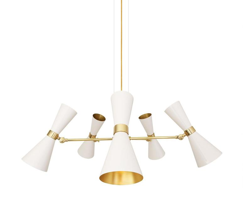 Cairo cinq bras studio mullan lighting lustre chandelier  mullan cairo cinq bras blanc mat mlf205pcwte  design signed nedgis 67503 product