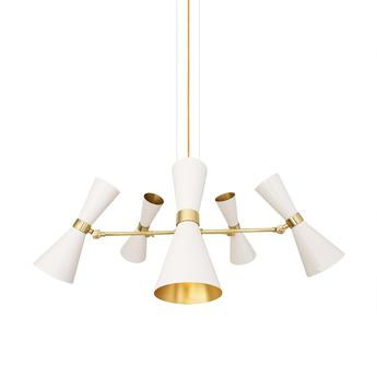 Lustre cairo cinq bras blanc o80cm h36cm mullan lighting normal