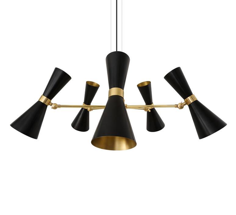 Cairo cinq bras studio mullan lighting lustre chandelier  mullan cairo cinq bras noir mat mlf205pcmbk  design signed nedgis 67498 product