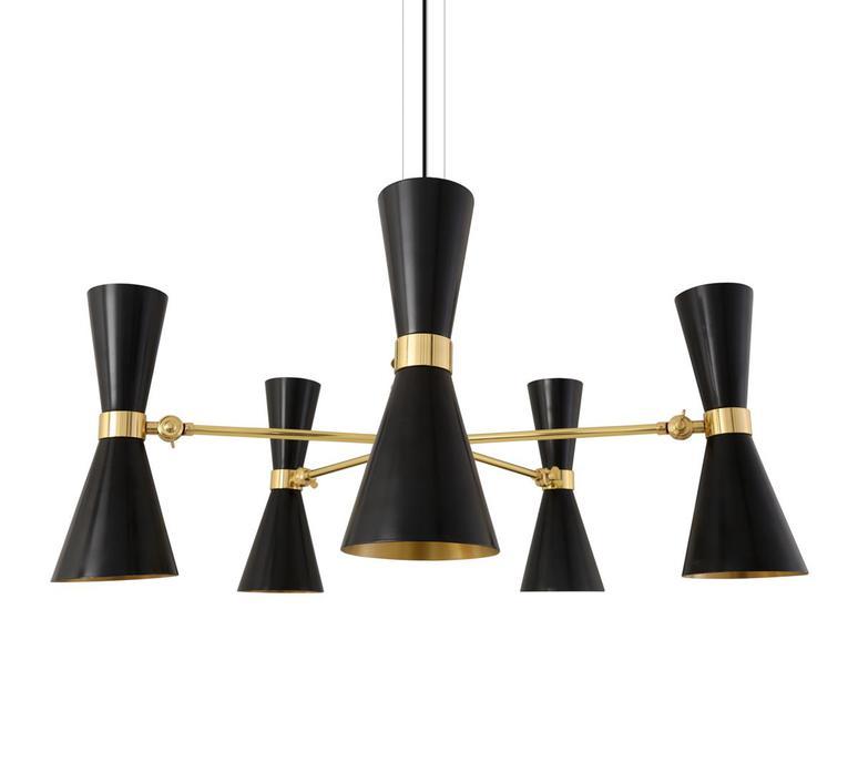 Cairo cinq bras studio mullan lighting lustre chandelier  mullan cairo cinq bras noir mat mlf205pcmbk  design signed nedgis 67499 product