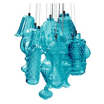 Lustre ceraunavolta bleu o45cm h25cm karman normal