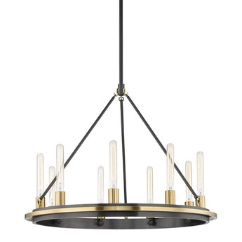 Lustre chambers s vieux bronze 0o81 3cm h81 9cm hudson valley normal
