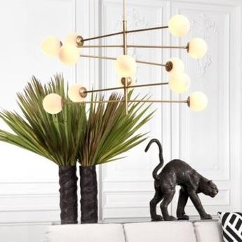 Lustre chandelier argento l laiton verre opalin o176cm h93 5cm eichholtz normal