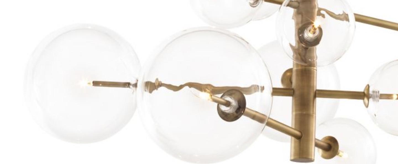 Lustre chandelier argento s laiton l176cm h78 5cm eichholtz normal