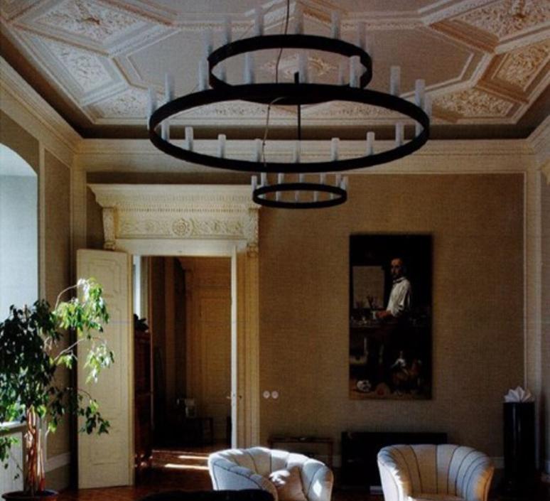 Chandelier double david chipperfield lustre chandelier  fontana arte chandelier noir 5491 33n  design signed nedgis 65954 product