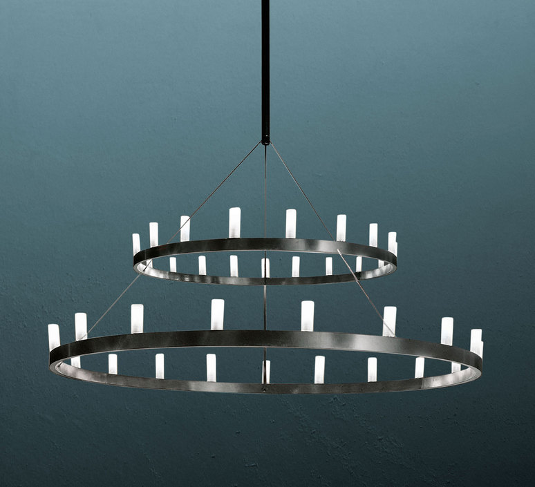 Chandelier double david chipperfield lustre chandelier  fontana arte chandelier noir 5491 33n  design signed nedgis 65958 product