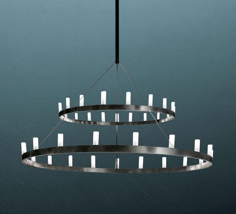 Chandelier double david chipperfield lustre chandelier  fontana arte chandelier noir 5491 22n  design signed nedgis 65956 product