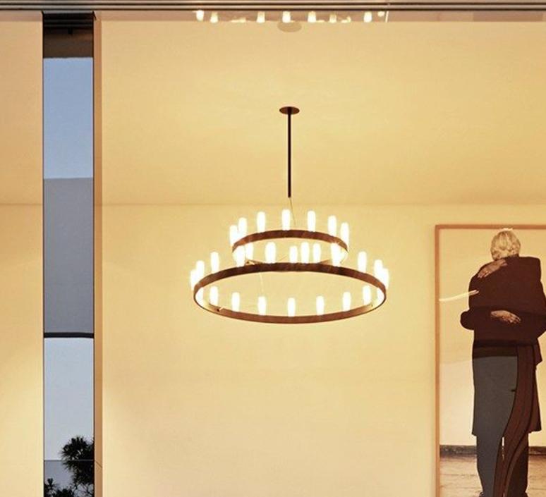 Chandelier double david chipperfield lustre chandelier  fontana arte chandelier noir 5491 22n  design signed nedgis 65957 product