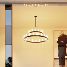 Chandelier double david chipperfield lustre chandelier  fontana arte chandelier noir 5491 22n  design signed nedgis 65957 thumb