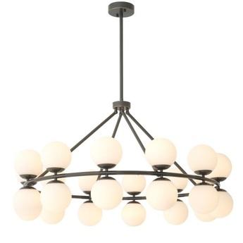 Lustre chandelier hutchinson noir o115cm h65cm eichholtz normal