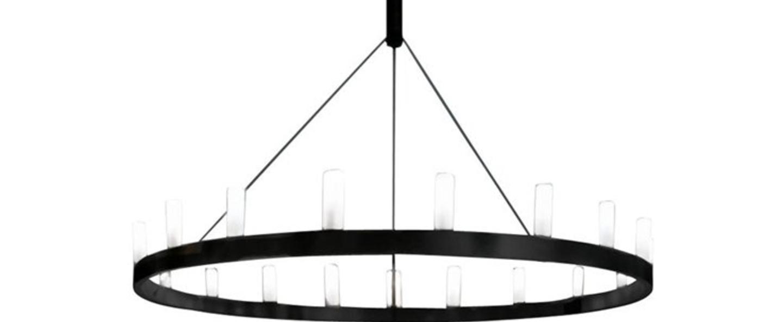Lustre chandelier noir o150cm h500cm fontana arte normal
