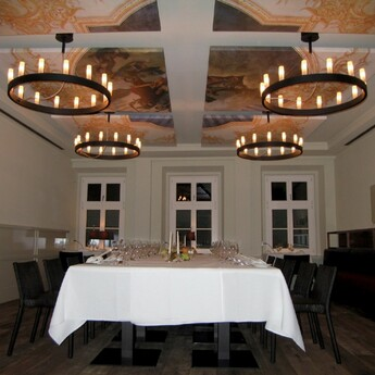 Lustre chandelier noir o90cm h500cm fontana arte normal