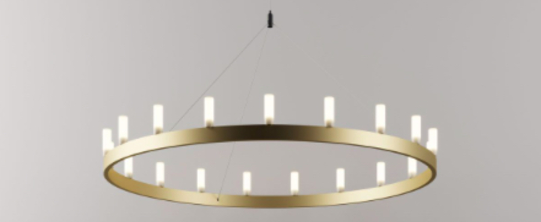 Lustre chandelier or o90cm h500cm fontana arte normal