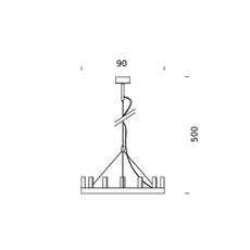 Chandelier david chipperfield lustre chandelier  fontana arte chandelier gold 5491oo  design signed nedgis 65525 thumb