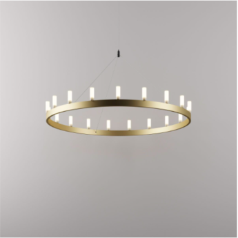 Lustre chandelier or o90cm h500cm fontana arte normal