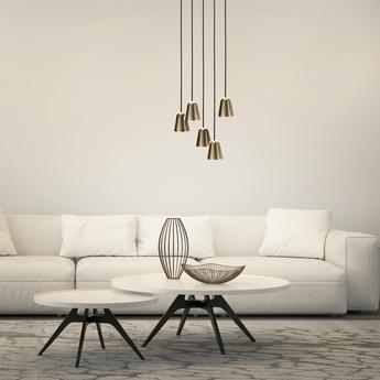 Lustre chaplin chandelier 5 laiton brillant noir h250cm l41cm formagenda normal