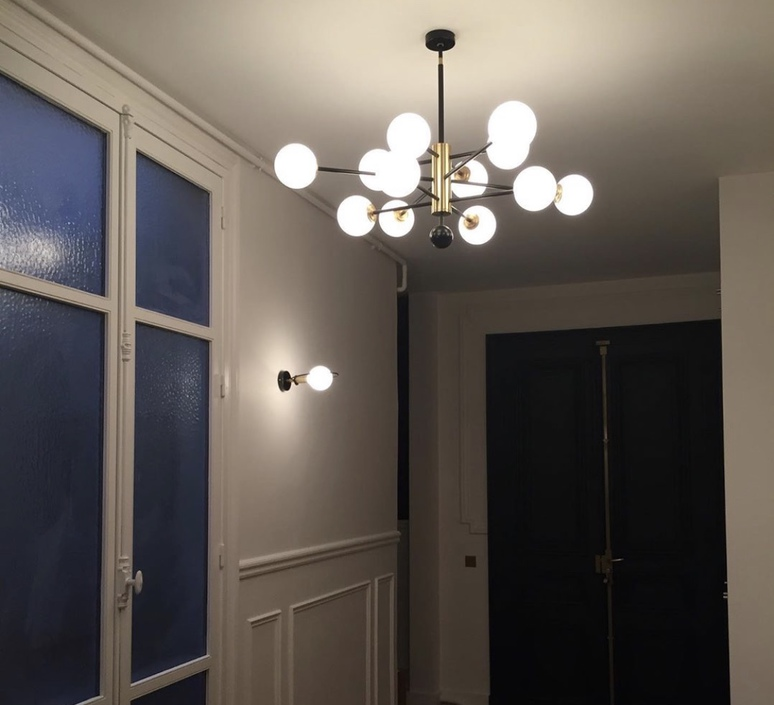 Charlotte 12 globes daniel gallo lustre chandelier  daniel gallo charlotte 12 globes  design signed nedgis 81612 product