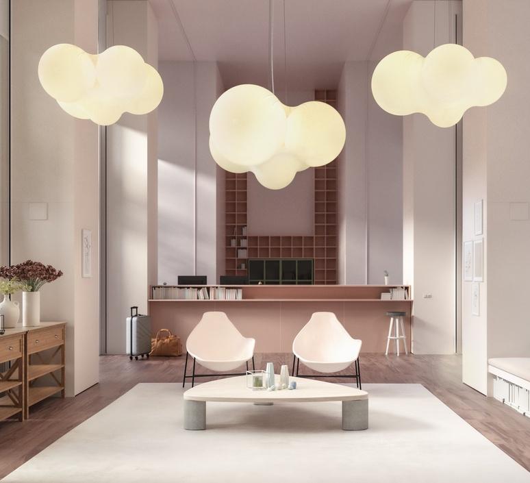 Cloudy dima loginoff lustre chandelier  axolight spcloudybcxxled  design signed nedgis 110964 product