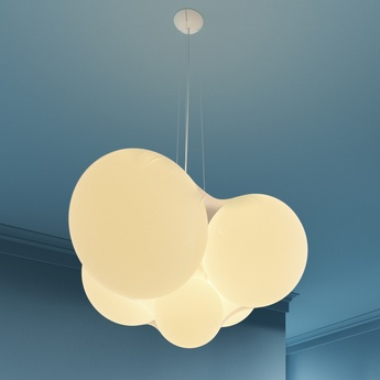 Lustre cloudy blanc led 2700 3000k 7602lm o128cm h73 8cm axo light normal